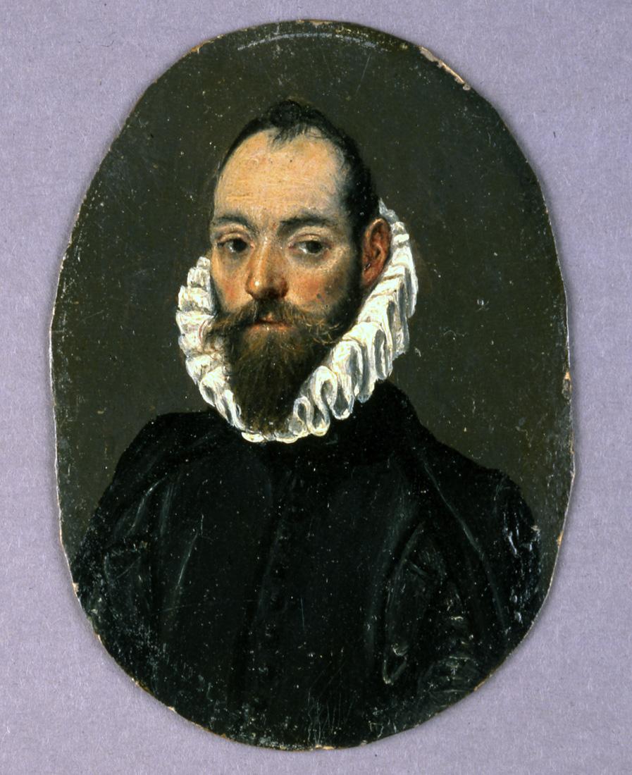 A311_El Greco, Portrait of a Man, miniature