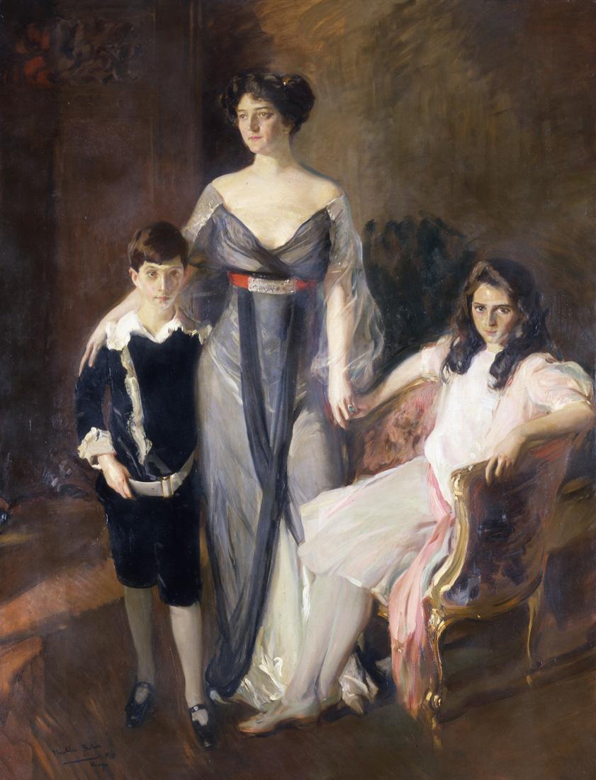 A3216_Sorolla, Mrs. Nelson and Children