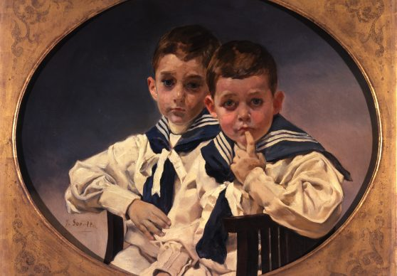 Attributed to Joaquín Sorolla y Bastida. The Young Counts of Lérida, 1900-1905