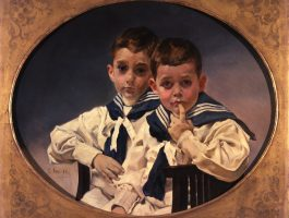 Attributed to Joaquín Sorolla y Bastida. The Young Counts of Lérida, 1900-1905