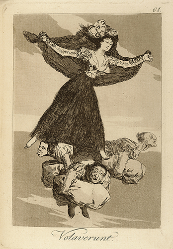 "Francisco de Goya, ""Volaverunt"" [They have flown], Plate 16 from Los Caprichos, etching, 1797–99."
