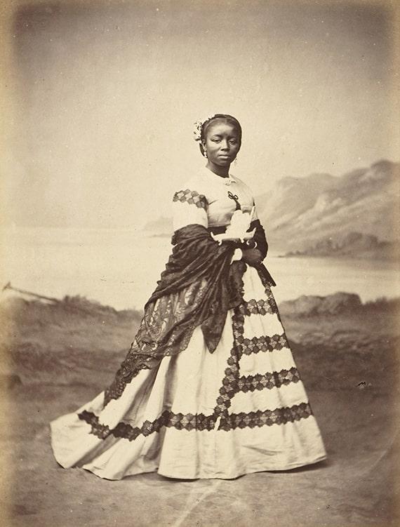"Eugène Courret, ""Une zamba,"" albumen print in Souvenir de Lima, 1869-72."