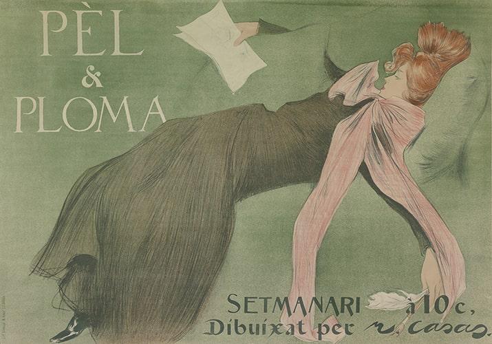 Ramon Casas i Carbó, Pel y Ploma, color lithographic poster, 1899