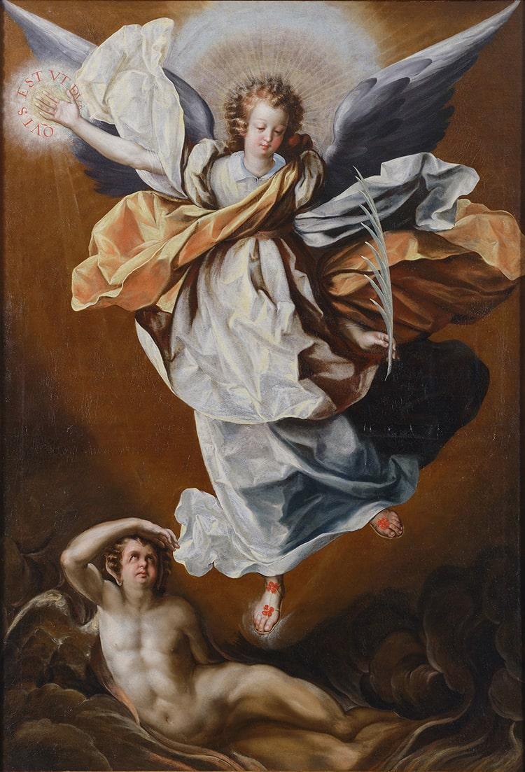 Luis Juárez, Saint Michael the Archangel Triumphant over Satan, ca. 1635-39. Oil on canvas
