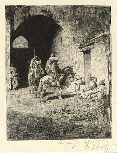 Mariano Fortuny y Marsal, Guards at the Kasbah of Tetuán, Etching, 1865–69.