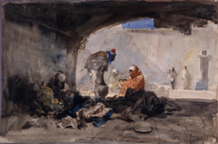 Mariano Fortuny y Marsal, A Moor (Askari), 1862-1863. Oil on cardboard