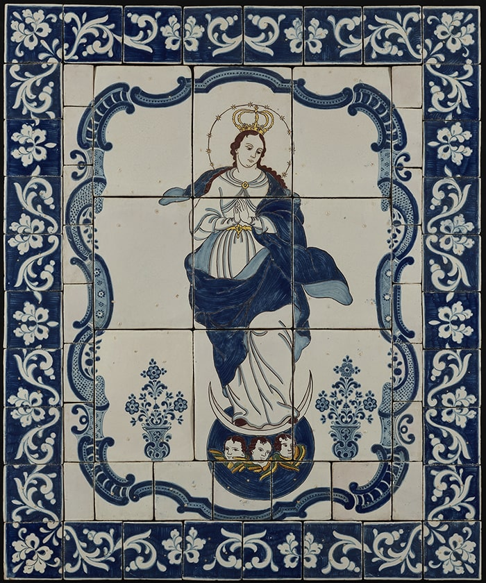 Immaculate Conception, ca 1798. Puebla de los Angeles, Mexico. Tin-glazed earthenware