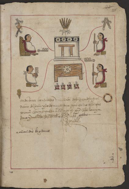 "Image 4. ""Bilingual"" indigenous manuscript written in 1549–1550"