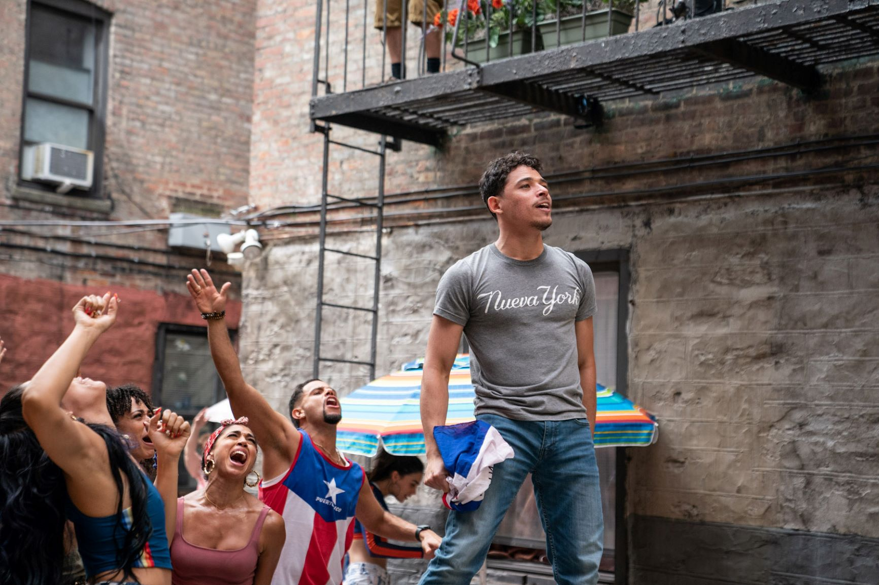 """ANTHONY RAMOS as Usnavi in Warnner Bros. Pictures' """"IN THE HEIGHTS,"""" a Warner Bros. Pictures release. Photo by Macall Polay"""